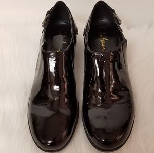 Cole Haan/Nike Air Black Patent Slip-on Wedges